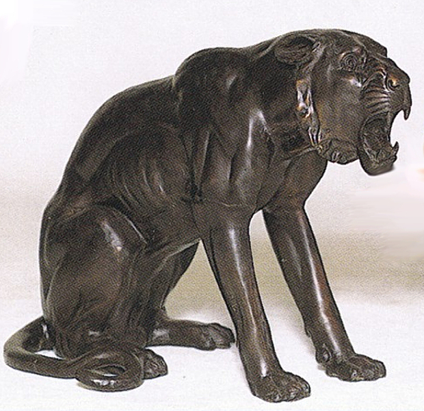 Bronze Panther Statues - ASB 665