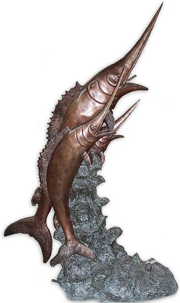 Bronze Swordfish Fountain - AF 69001