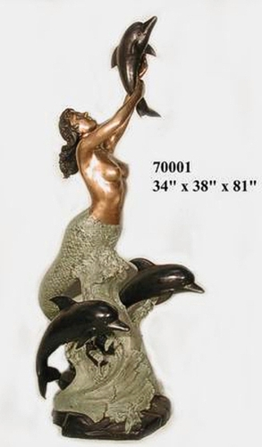 Bronze Mermaid Fountains | Bronze Mermaid Statues - AF 70001