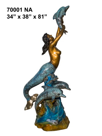 Bronze Mermaid Fountains | Bronze Mermaid Statues - AF 70001NA