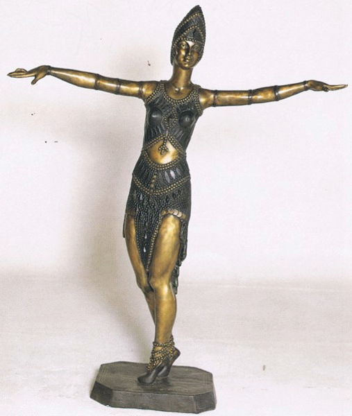 Bronze Dancing Lady Statue - ASB 715