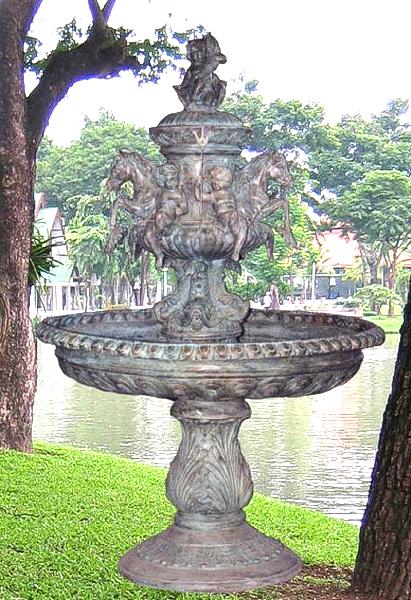 Bronze Horse & Cherub Fountain - BB 72-2