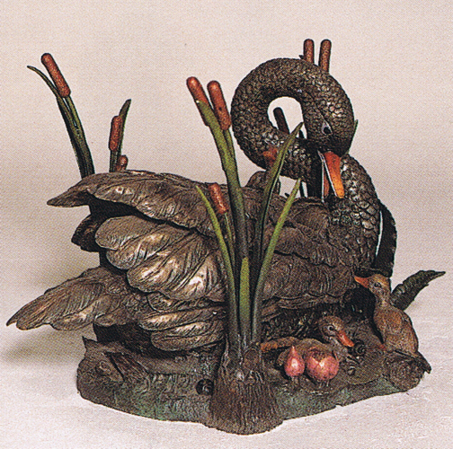 Bronze Swan Table Base - ASB 726