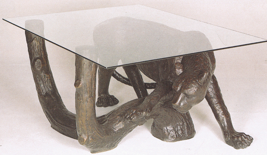 Bronze Cheetah Table Base - ASB 727