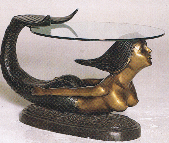 Bronze Mermaid Table - ASB 730