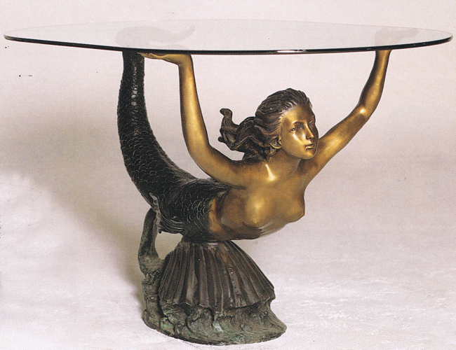 Bronze Mermaid Table - ASB 731