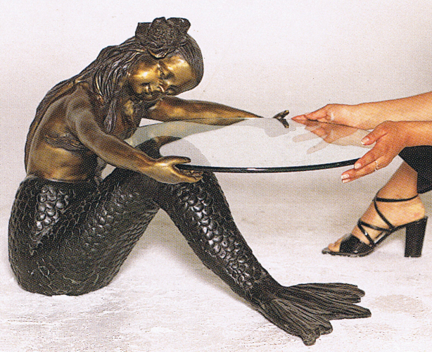 Bronze Mermaid Table - ASB 732