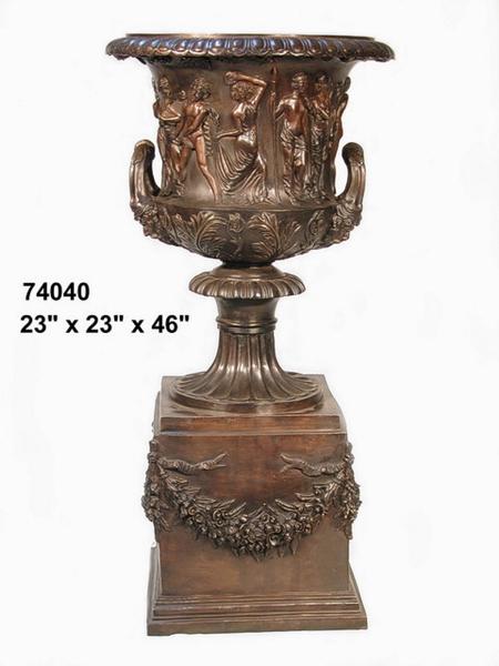Bronze Pedestal Urn - AF 74040