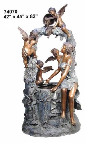 Bronze Maiden Angels Fountain - AF 74070