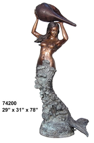 Bronze Mermaid Fountains | Bronze Mermaid Statues - AF 74200