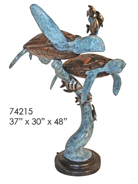 Bronze Turtle Fountain - AF 74215