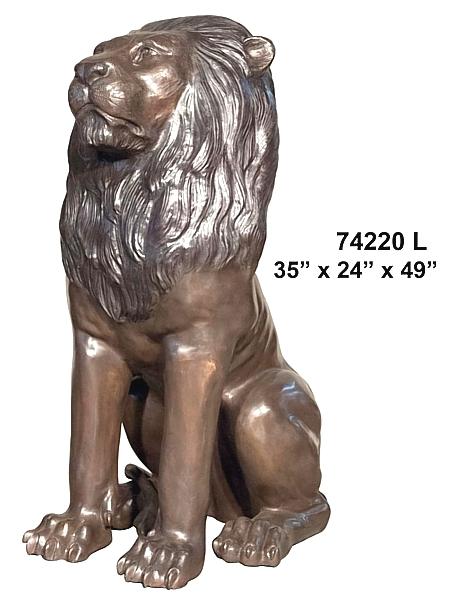 Bronze Lion Statues - AF 74220L