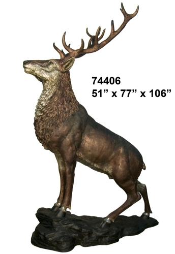 Bronze Elk Statues - AF 74406