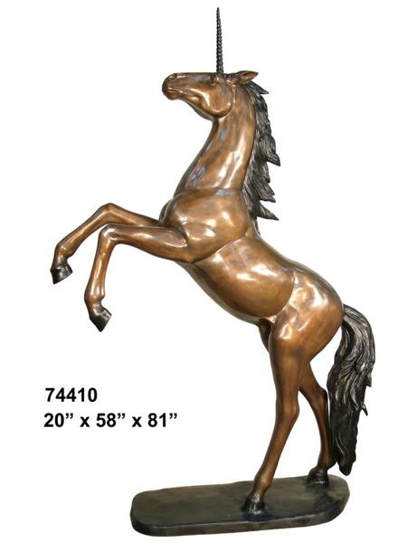 Bronze Unicorn Statues - AF 74410
