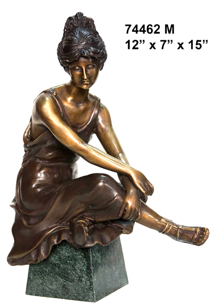 Bronze Dancing Lady Statue - AF 74462M