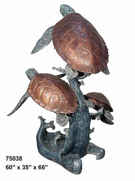 Bronze Turtle Fountain