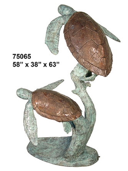 Bronze Turtle Fountain - AF 75065