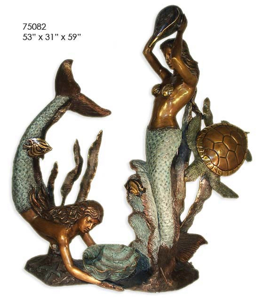 Bronze Mermaid Fountains | Bronze Mermaid Statues - AF 75082BG