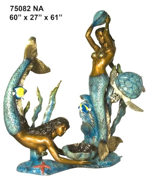 Bronze Mermaid Statues - AF 70088NA-S
