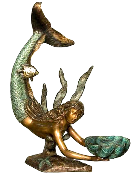Bronze Mermaid Fountains | Bronze Mermaid Statues - AF 75086 GR