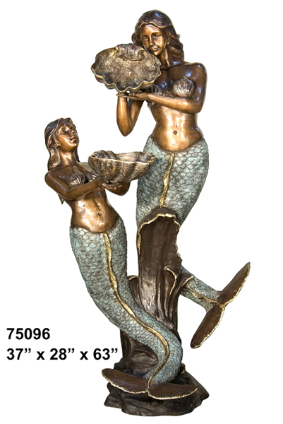 Bronze Mermaid Fountains | Bronze Mermaid Statues - AF 75096