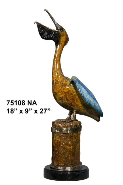 Bronze Pelican Statues - AF 75108NA