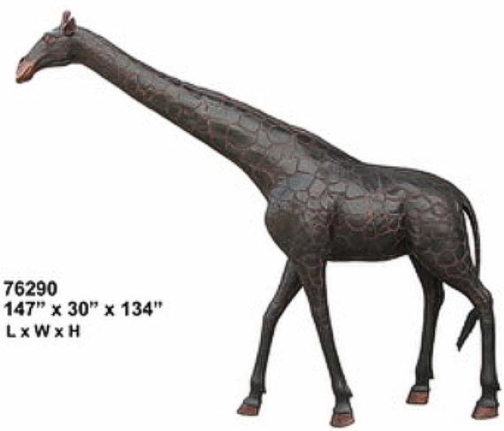 Bronze Giaffe Statue - AF 76290