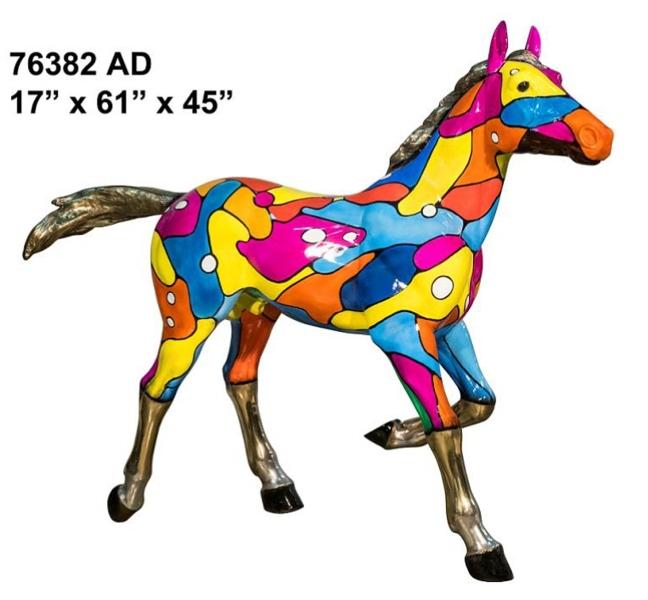 Bronze Art Deco Horse Statue - AF 76382 AD