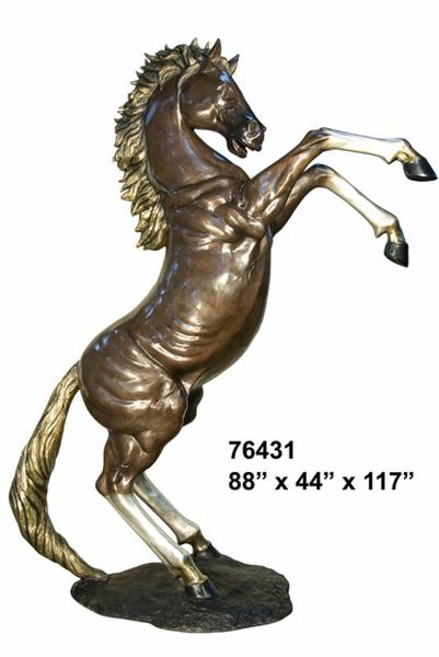 Bronze Horse Statues - AF 76431