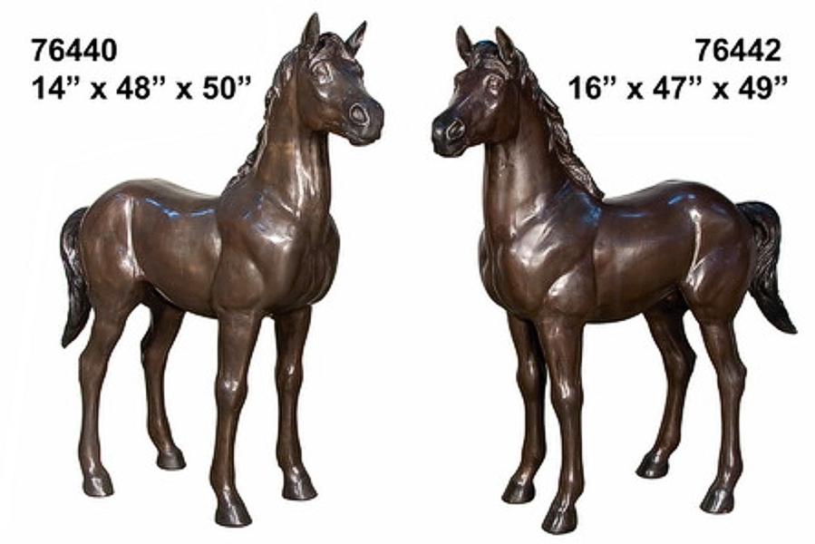 Bronze Horse Statues - AF 76440-42