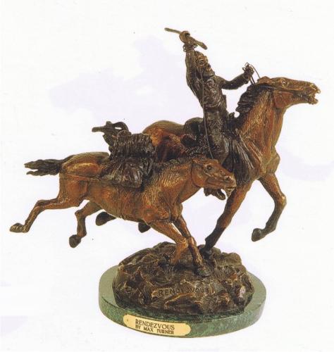 Bronze Rendezvous Statue - ASB 773