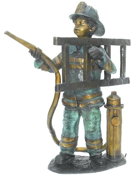Bronze Fire Boy Fountain - ASB 800/F