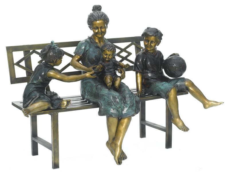 Bronze Children Bench Reading - ASB 801