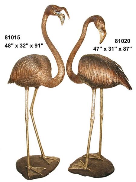 Bronze Flamingo Statue - AF 81015-20