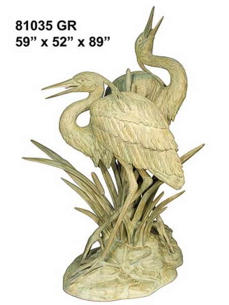 Bronze Heron Fountains - AF 81035GR