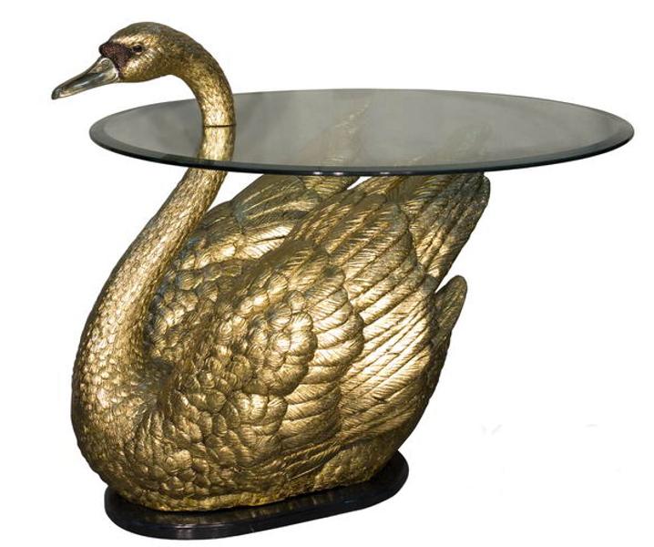 Bronze Swan Table Base - AF 81043GL