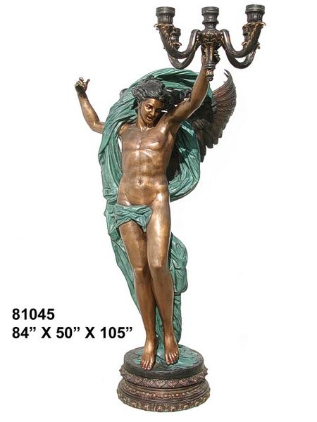 Bronze Angel Candelabra or Torchiere Light - AF 81045