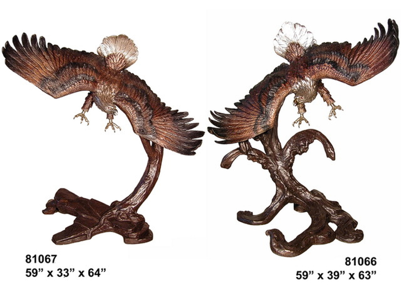 Bronze Eagle Statues | Bird of Prey - AF 81066-67