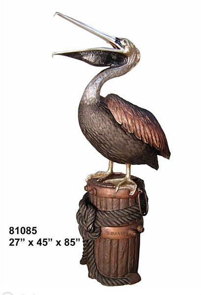 Bronze Pelican Statues - AF 81085 S