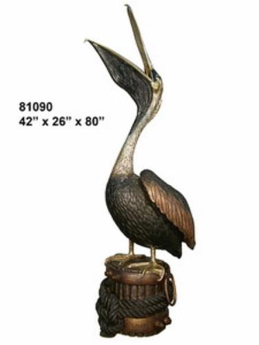 Bronze Pelican Statues - AF 81090