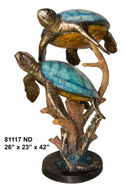 Bronze Turtle Fountain - AF 81117ND