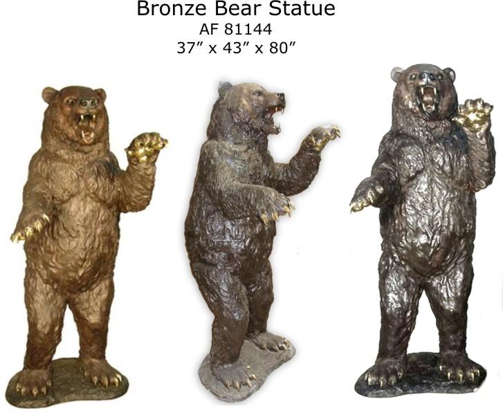 Bronze Bear Statues - AF 81144