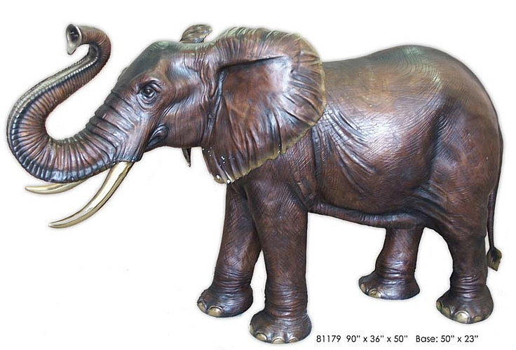 Bronze Elephant Fountain - AF 81179