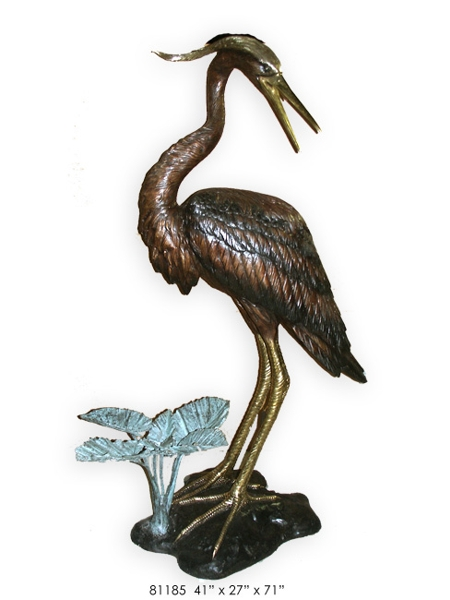 Bronze Heron Fountains - AF 81185