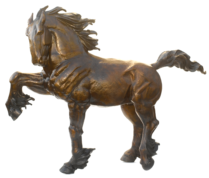 Bronze Clydesdale Horse Statue - ASB 819