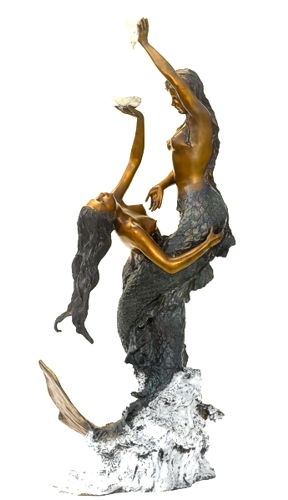 Bronze Mermaid Fountains | Bronze Mermaid Statues - ASB 828