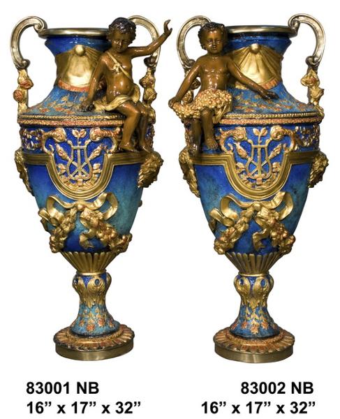 Bronze Cherubs Urn - AF 83001NB