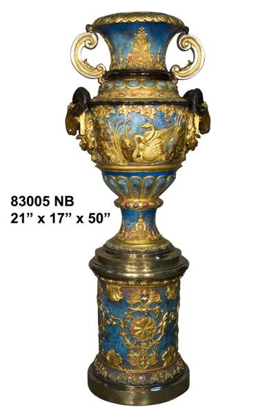 Bronze Sheep Head Urn - AF 83005NB