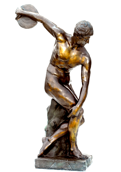 Bronze Discus Thrower Statue - ASB 837