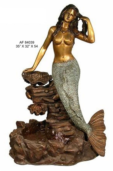 Bronze Mermaid Fountains | Bronze Mermaid Statues - AF 84039